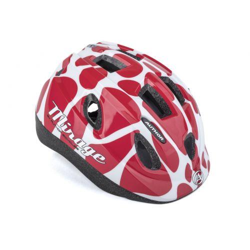 Шлем Author Mirage Inmold, размер 52-56 см, цвет: красно/белый