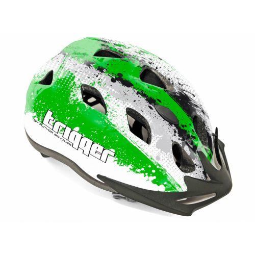 Шлем Author Mirage Inmold, размер 54-58 см, цвет: серо/бело/зеленый