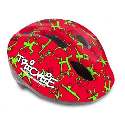 Шлем Author Trickie, размер 49-56 см, цвет: красно/зелёный