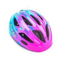 Шлем Author Flash Inmold, размер 47-51 см, цвет: розово/синий