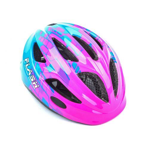 Шлем Author Flash Inmold, размер 51-55 см, цвет: розово/синий