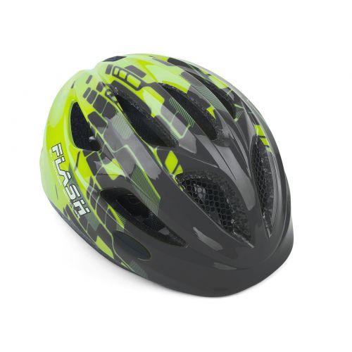 Шлем Author Flash Inmold, размер 51-55 см, цвет: серо/неоново желтый