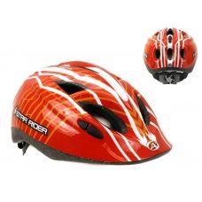 Шлем Star Rider 084   красный/оранжевый/белый,  размер 52-57 cm, вес 260 гр.