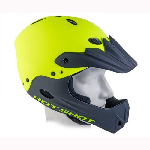 Шлем Author Hot Shot In-mold, размер 58-62 см, неоново желтый/черный