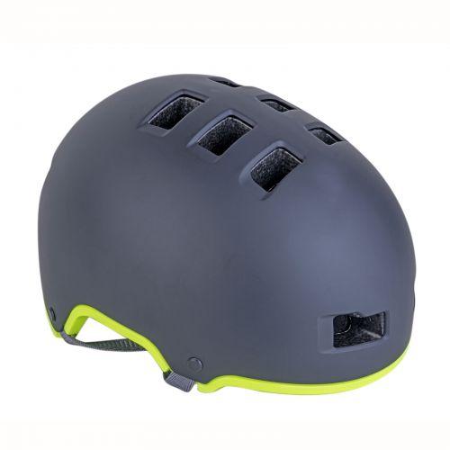 Шлем Author Lynx X9, размер 54-58 cm, цвет: черный/ неоново желтый