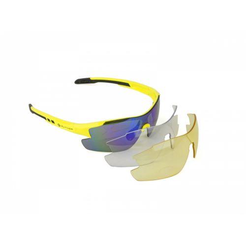 Очки солнцезащитные Author Vision LX, неоново желтая оправа, 3 сменных пары линз