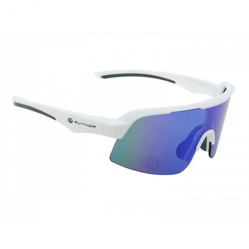 Очки солнцезащитные Author Shadow, линзы синие с REVO эфектом, матово белая оправа