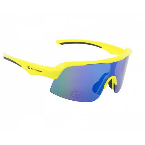 Очки солнцезащитные Author Shadow, линзы синие с REVO эфектом, неоново желтая оправа