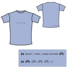 Футболка Enjoy, женская, размер S, голубая, материал : 96% cotton, 4% elastan