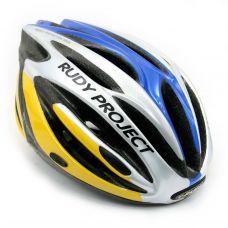 Шлем AYRON+ ,цвет-желто/сине/серебристый, размер S-M