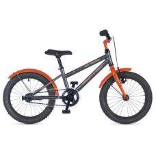 """Велосипед AUTHOR (2018) Orbit II 16"""", рама 9"""", цвет-серый // оранжевый"""