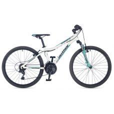 """Велосипед AUTHOR (2018) A-Matrix ASL 24"""", рама 12,5"""", цвет-белый (бирюзовый) // бирюзовый"""