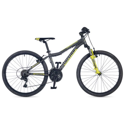 """Велосипед AUTHOR (2018) A-Matrix ASL 24"""", рама 12,5"""",  цвет-серый (зелёный) // зелёный"""