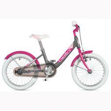 """Велосипед AUTHOR (2020) Bello 16"""", рама 9"""", цвет-серебристый // розовый"""