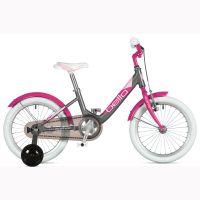 """Велосипед AUTHOR (2020) Bello II 16"""", рама 9"""", цвет-серебристый // розовый"""