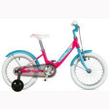 "Велосипед AUTHOR (2020) Bello II 16"", рама 9"", цвет-розовый // голубой"