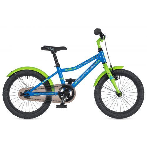 "Велосипед AUTHOR (2020) Stylo 16"", рама 9"", цвет-голубой // салатовый"