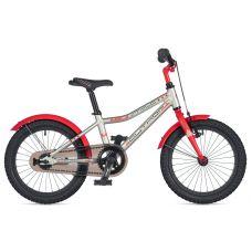 """Велосипед AUTHOR (2020) Stylo 16"""", рама 9"""", цвет-серебристый // красный"""