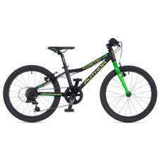 """Велосипед AUTHOR (2020) Cosmic 20"""", рама 10"""", цвет-чёрный // зелёный"""