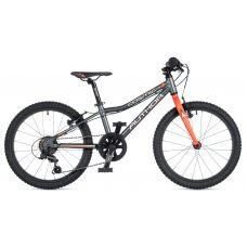 """Велосипед AUTHOR (2020) Cosmic 20"""", рама 10"""", цвет-графитовый // оранжевый"""