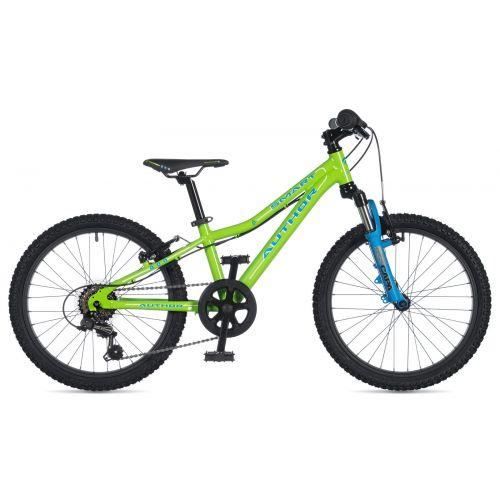 """Велосипед AUTHOR (2020) Smart 20"""", рама 10"""", цвет-салатовый // голубой"""