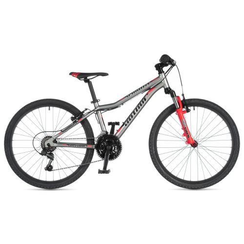 """Велосипед AUTHOR (2020) A-Matrix 24"""", рама 12,5"""", цвет-серебристый (красный) // красный"""