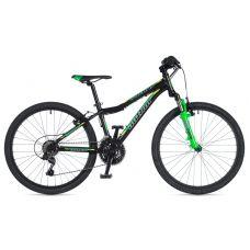 """Велосипед AUTHOR (2020) A-Matrix 24"""", рама 12,5"""", цвет-чёрный (неоново зеленый)// неоново зеленый"""