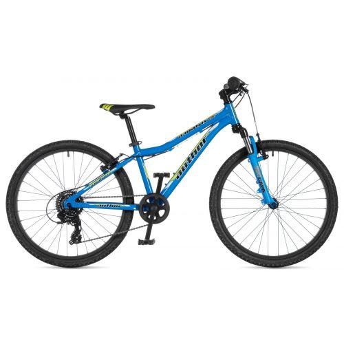 """Велосипед AUTHOR (2020) A-Matrix SL 24"""", рама 12,5"""", цвет-голубой (жёлтый) // черный"""