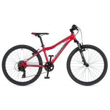 """Велосипед AUTHOR (2020) A-Matrix SL 24"""", рама 12,5"""", цвет-красный (голубой) // чёрный"""