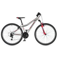 """Велосипед AUTHOR (2020) A-Matrix 26"""", рама 13,5"""", цвет-серебристый (красный) // красный"""