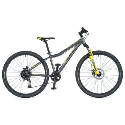 """Велосипед AUTHOR (2020) A-Matrix 26"""" D, рама 13,5"""", цвет-серый (неоново жёлтый) // жёлтый"""