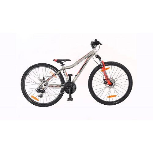 """Велосипед AUTHOR (2020) A-Matrix 26"""" D II, рама 13,5"""", цвет-серебристый (красный) // красный"""