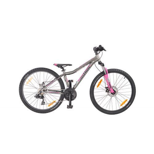 """Велосипед AUTHOR (2020) A-Matrix 26"""" D II, рама 13,5, цвет-серый (розовый) // розовый"""