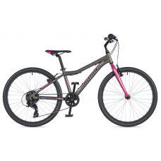 """Велосипед AUTHOR (2020) Ultima 24"""", рама 12,5"""", цвет-серый // розовый"""