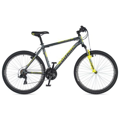 "Велосипед AUTHOR (2020) Outset 26"", рама 17"", цвет-серый // неоново желтый"