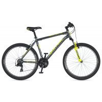 "Велосипед AUTHOR (2020) Outset 26"", рама 19"", цвет-серый // неоново желтый"