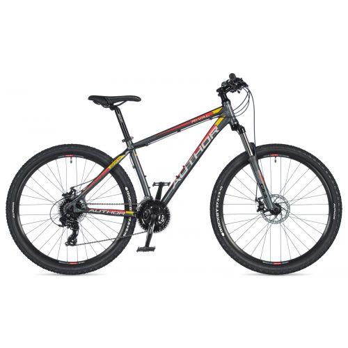 """Велосипед AUTHOR (2020) Rival 27.5"""", рама 15"""", цвет-серый // чёрный"""