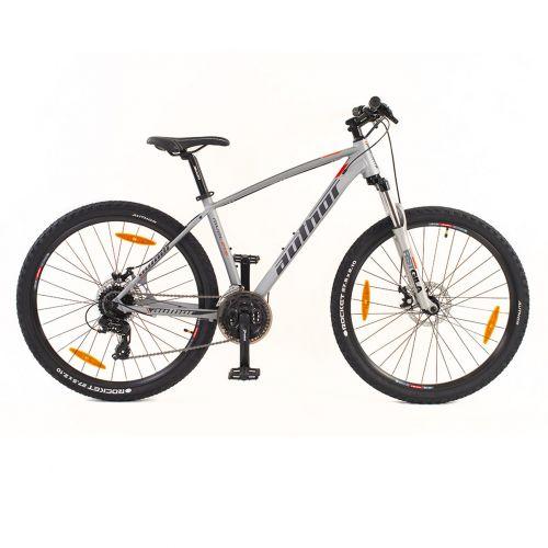 """Велосипед AUTHOR (2020) Rival II 27.5"""", рама 17"""", цвет-серебристый (красный) // чёрный"""