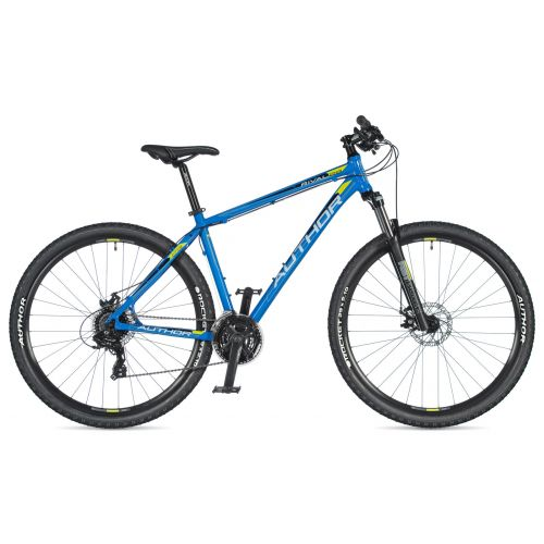 """Велосипед AUTHOR (2020) Rival 29"""", рама 17"""", цвет-синий // черный"""