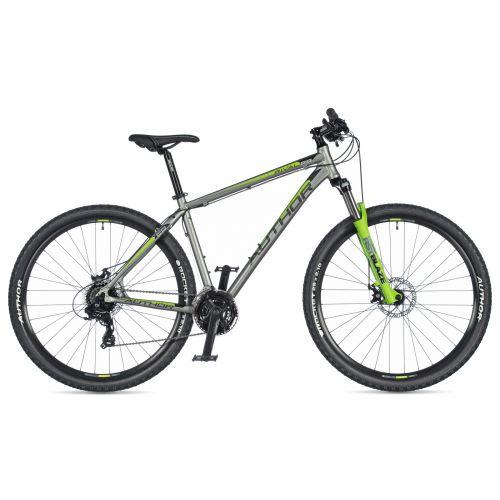 """Велосипед AUTHOR (2020) Rival 29"""", рама 21"""", цвет-серый // зелёный"""