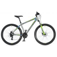 """Велосипед AUTHOR (2020) Impulse 27.5"""", рама 17"""", цвет-серебристый // зелёный"""
