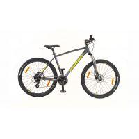 """Велосипед AUTHOR (2020) Impulse II 27.5"""", рама 17"""", цвет-серый (лимонный) // серый"""