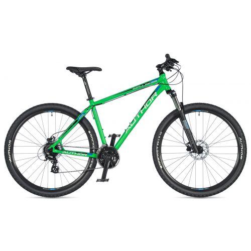 """Велосипед AUTHOR (2020) Impulse 29"""", рама 21"""", цвет-зелёный // черный"""