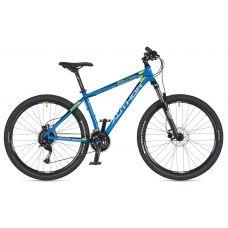"""Велосипед AUTHOR (2020) Solution 27.5"""", рама 19"""", цвет-синий (салатовый) // салатовый"""