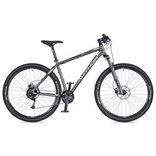 """Велосипед AUTHOR (2020) Solution 29"""", рама 17"""", цвет-серебристый (желтый-салатовый) // черный"""
