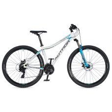 """Велосипед AUTHOR (2020) Rival ASL 27.5"""", рама 16"""", цвет-белый (голубой) // голубой"""