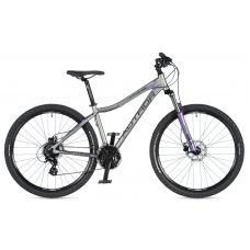 """Велосипед AUTHOR (2020) Impulse ASL 27.5"""", рама 18"""", цвет-серебристый (фиолетовый) // фиолетовый"""