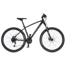 """Велосипед AUTHOR (2020) Pegas 27.5"""", рама 19"""", цвет-черный матовый (оранжевый) // чёрный"""