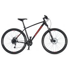 """Велосипед AUTHOR (2020) Pegas 29"""", рама 21"""", цвет-черный матовый (красный) // чёрный"""