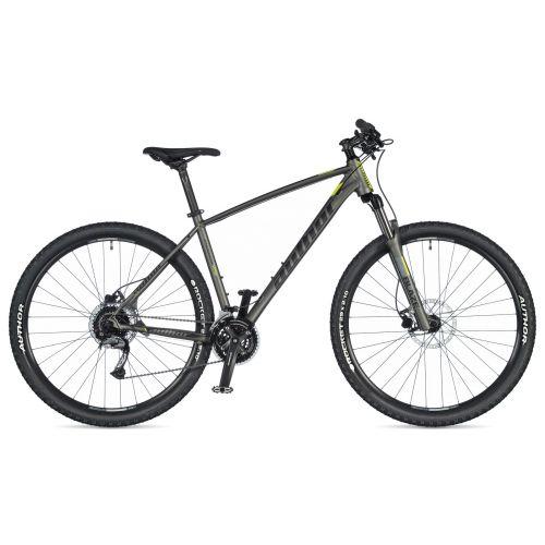 """Велосипед AUTHOR (2020) Pegas 29"""", рама 21"""", цвет-серебристый (неоново желтый) // серебристый"""